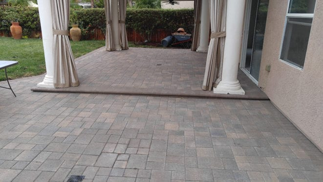 Cream Brown Charcoal Patio