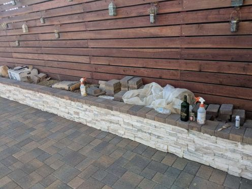 Coronado Stone  Veneer Finish on Planter Wall with AC1 Cap