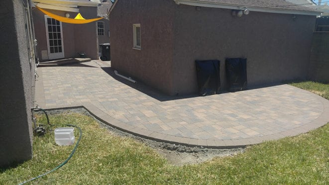 Angelus Cream Brown Charcoal Pavers Patio