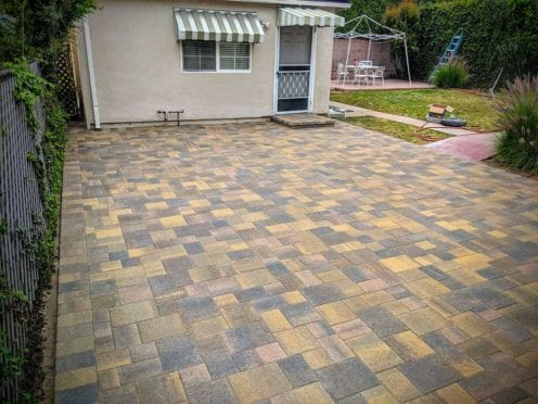 Cream Brown Charcoal  with Sand Stone Mocha Pavers Mix