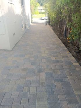 Cream Brown Charcoal Driveway