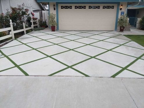 Artificial Turf: Custom Dimond Shape Turf Cutout