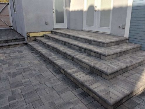 Steps: Custom Gray Charcoal Bullnose