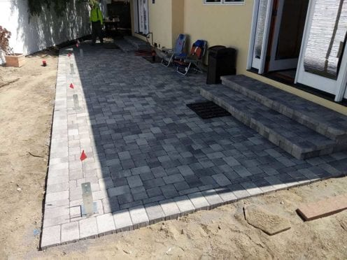Gray Charcoal I Pattern Patio