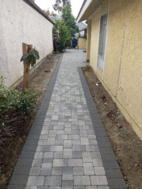 Gray Charcoal I Pattern Walkway