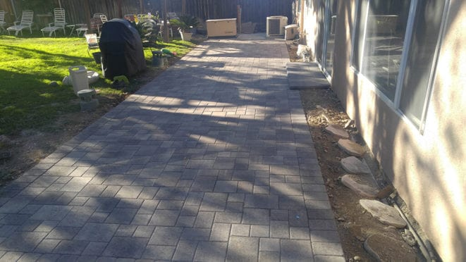 Gray Charcoal Pavers Patio