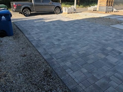 Gray Charocal with Gray Charcoal Driveway