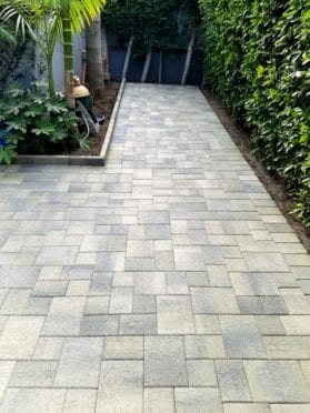 Gray Moss Charcoal Pavers Patio