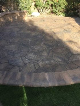 Belgard Mega Arbel Pavers in Bella with Bullnose Pavers