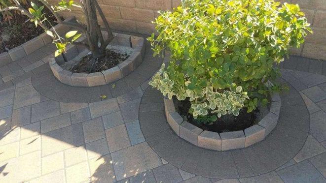 Paver planter wall