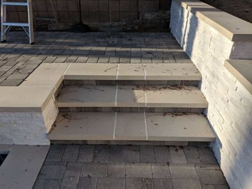 Steps: Precast Travertine Steps