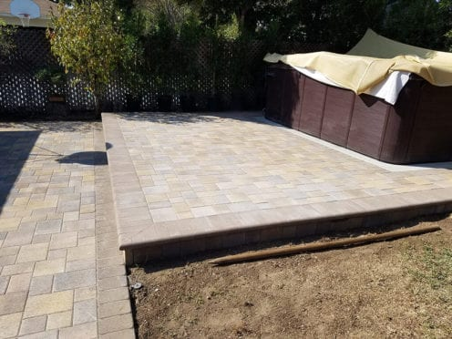 Raised Back Patio for SPA