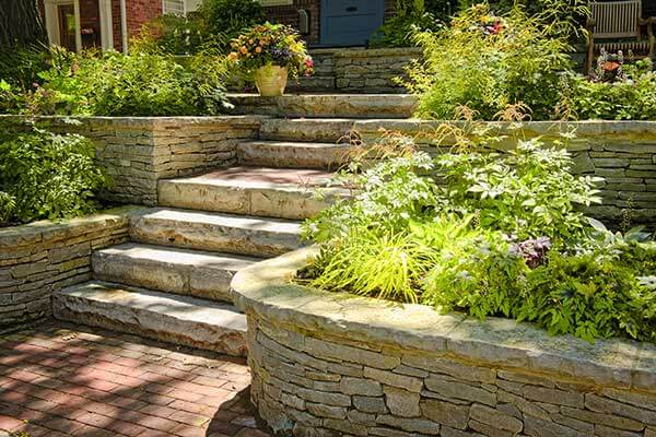 Planter Wall Paving