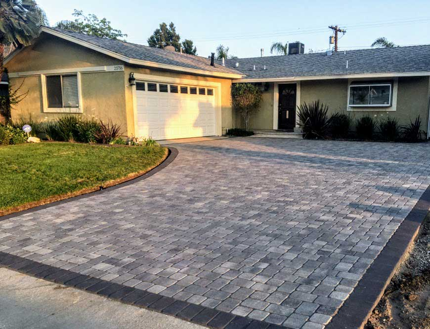 Gray Charcoal Permeable Pavers