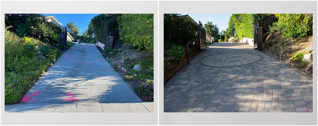 Driveway Paving Before After