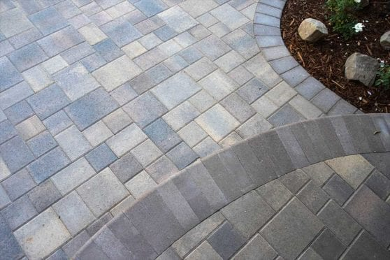 Paver Driveway Accent Close Up